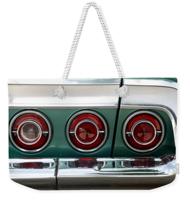 Chevrolet Weekender Tote Bag featuring the photograph 64 Impala by Rob Hans