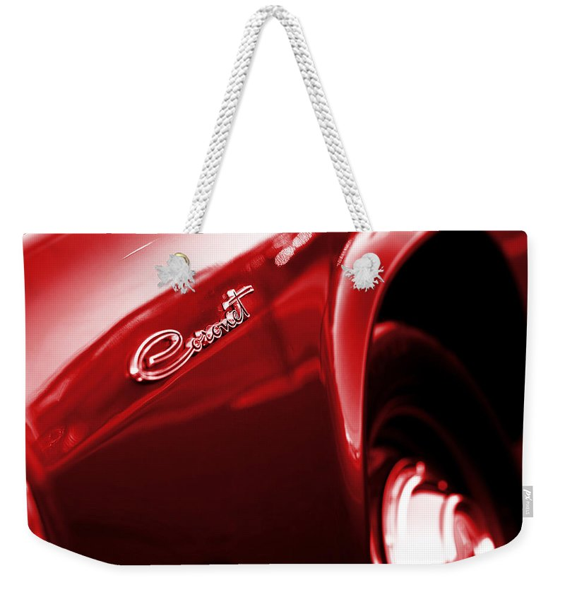1966 Weekender Tote Bag featuring the photograph '65 Dodge Coronet by Gordon Dean II