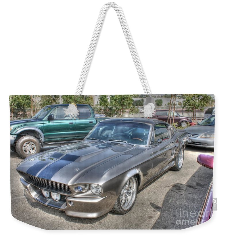 1968 Ford Mustang Gt Weekender Tote Bag featuring the photograph 68 West Coast Gt by Tommy Anderson