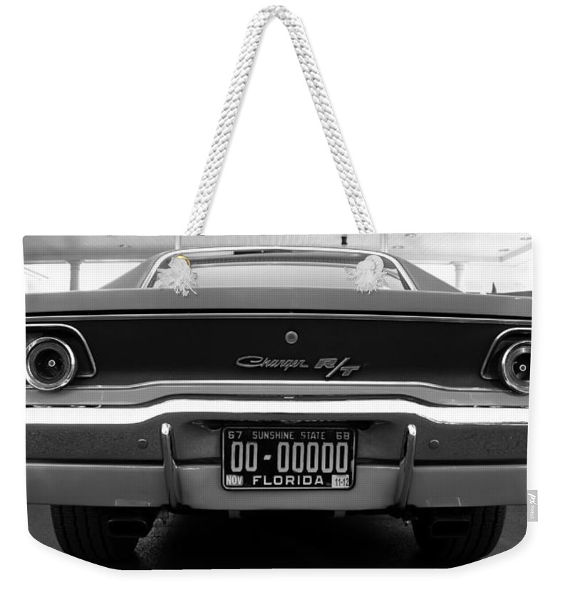 Panoramic Photography Weekender Tote Bag featuring the photograph 69 Charger Rt by David Lee Thompson