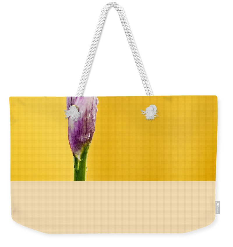 Calla Weekender Tote Bag featuring the photograph Calla Lily by Paulo Goncalves