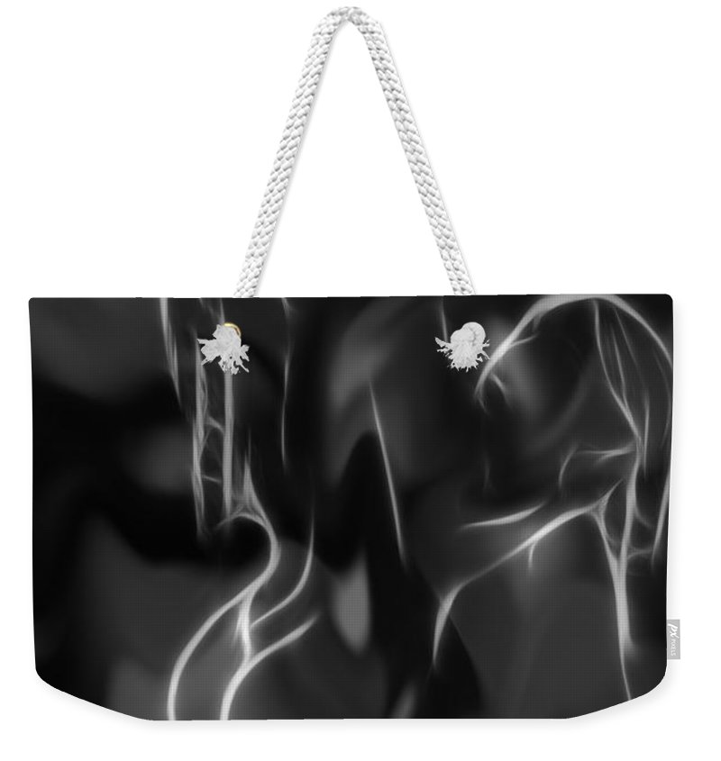 Women Woman Female Girl Girl Nude Naked Erotic Sensual Ecstasy Passion Seduction Black White Expressionism Lesbian Boobs Tits Butt Curves Weekender Tote Bag featuring the painting Ecstasy by Steve K