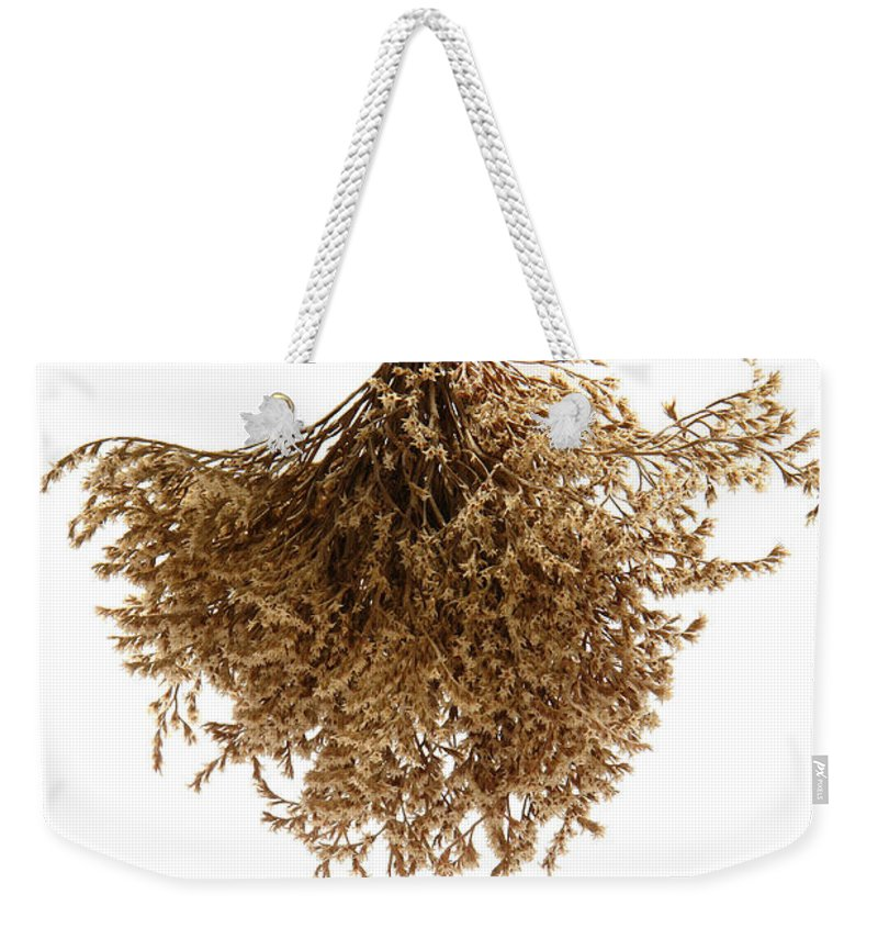 Flower Weekender Tote Bag featuring the photograph Hanging Dried Flowers Bunch by Olivier Le Queinec