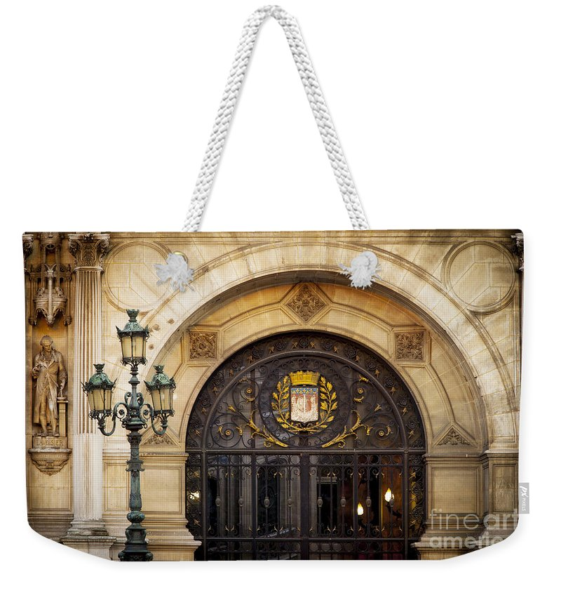 Arch Weekender Tote Bag featuring the photograph Hotel De Ville by Brian Jannsen