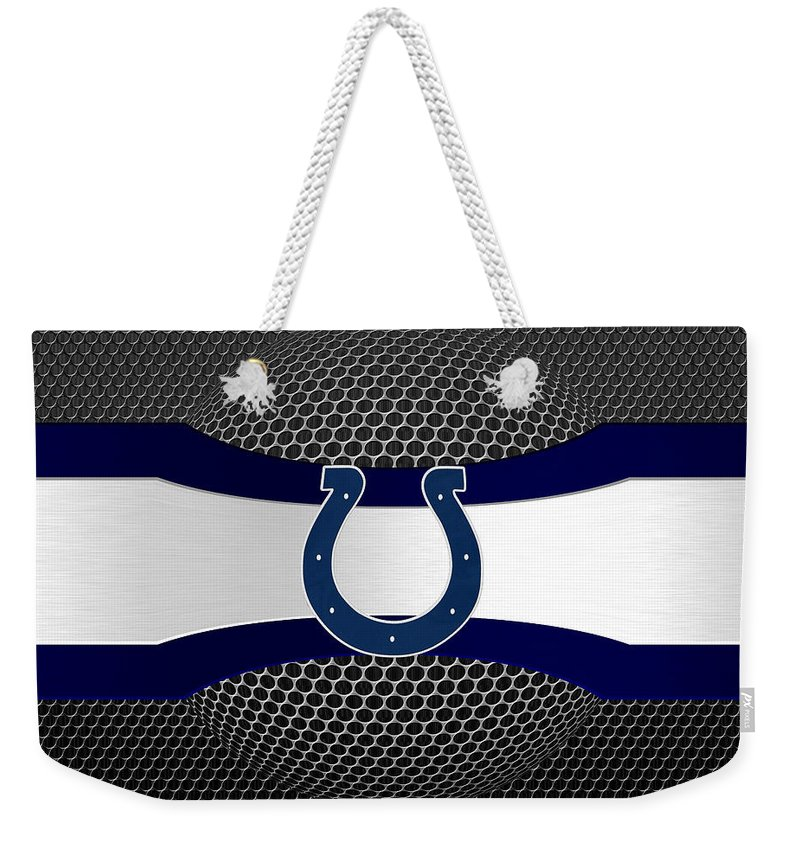 Colts Weekender Tote Bag featuring the photograph Indianapolis Colts by Joe Hamilton