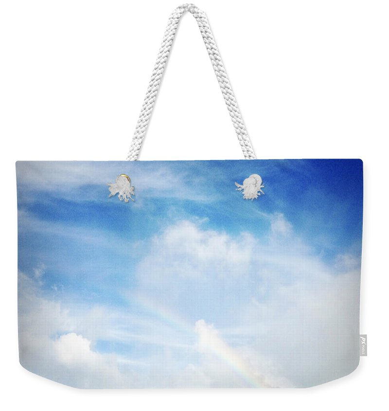 Rainbow Weekender Tote Bag featuring the photograph Rainbow by Les Cunliffe