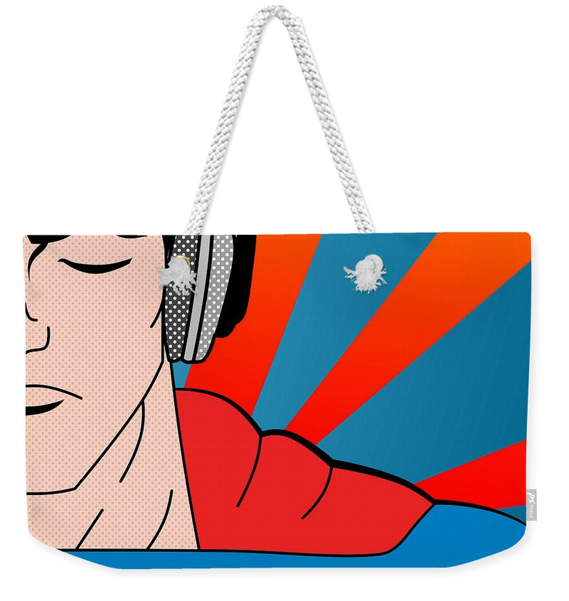 Pop Culture Weekender Tote Bag featuring the digital art Superman by Mark Ashkenazi