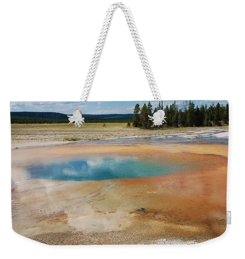 Yellowstone Weekender Tote Bag featuring the photograph Yellowstone by Dany Lison