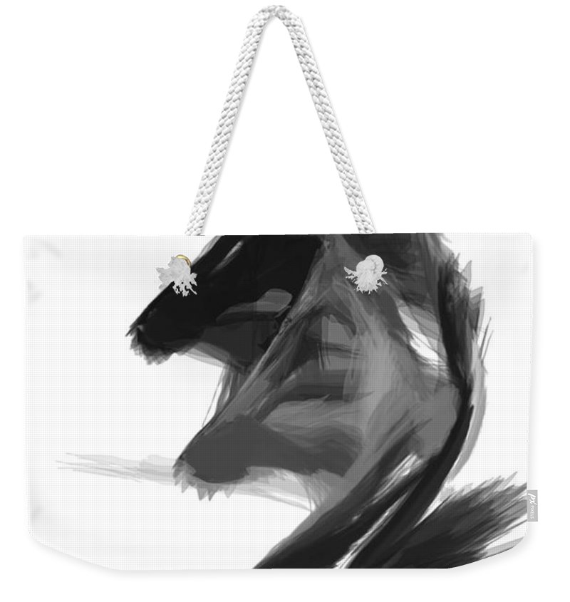 Abstract Weekender Tote Bag featuring the digital art Abstract Series I by Rafael Salazar