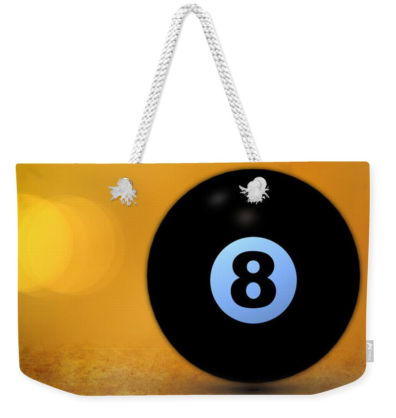 8 Ball Weekender Tote Bag featuring the photograph 8 Ball by Bob Orsillo