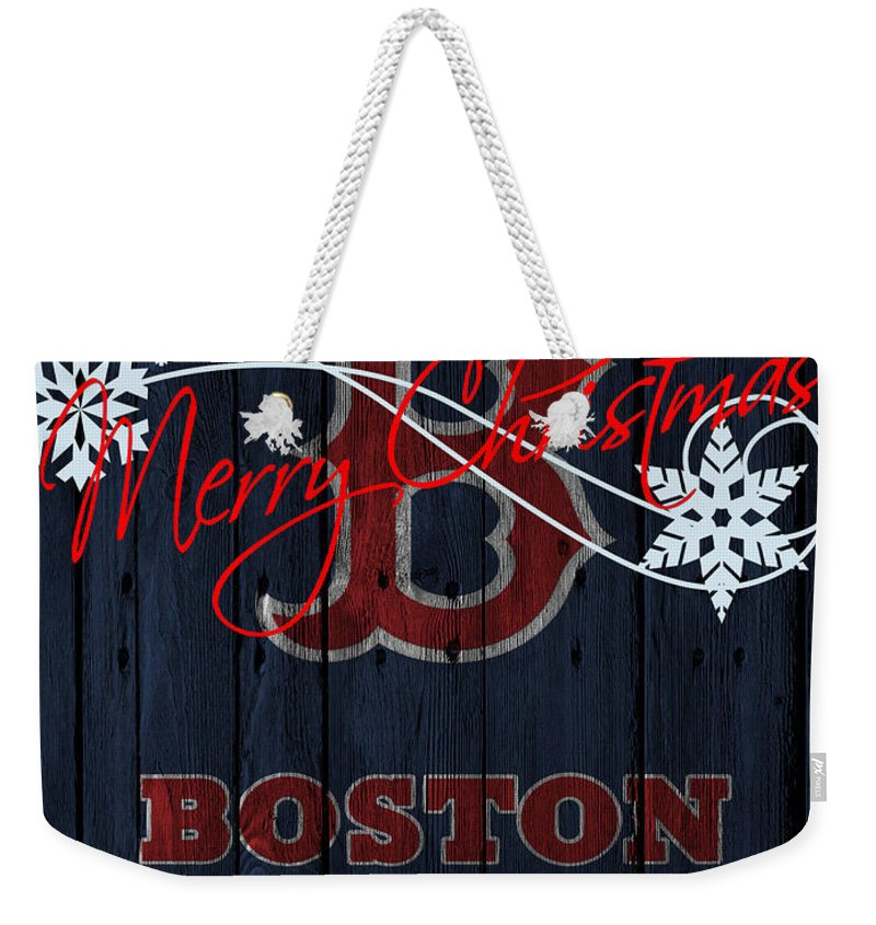 Red Sox Weekender Tote Bag featuring the photograph Boston Red Sox by Joe Hamilton