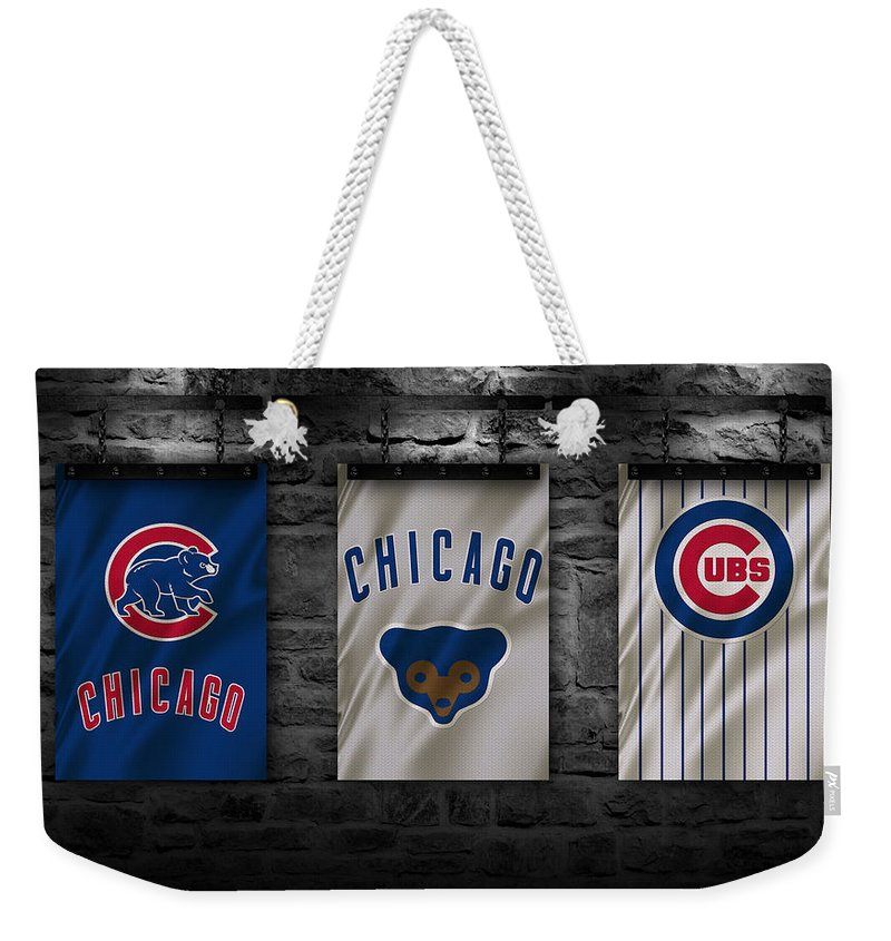 Cubs Weekender Tote Bag featuring the photograph Chicago Cubs by Joe Hamilton