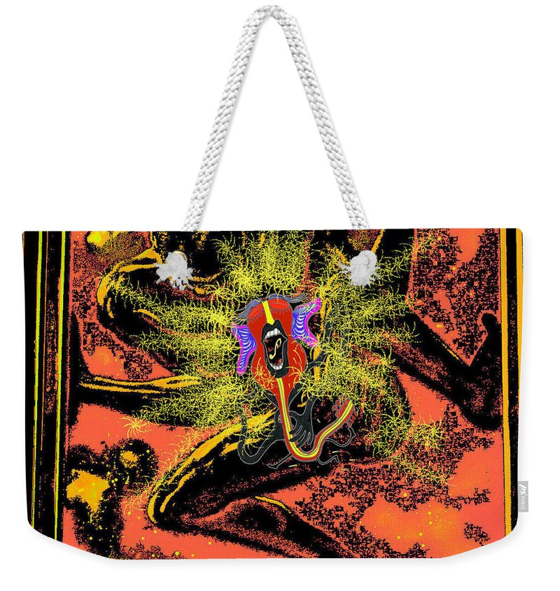 Genio Weekender Tote Bag featuring the digital art Craving For Freedom by Genio GgXpress
