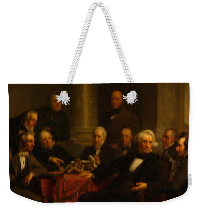Washington Weekender Tote Bag featuring the painting DC by Lord Frederick Lyle Morris