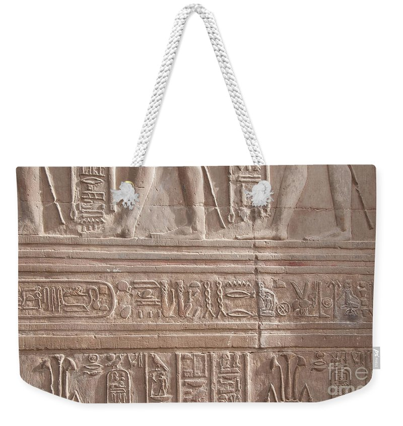 Egypt Weekender Tote Bag featuring the digital art Kom Ombo Temple by Carol Ailles