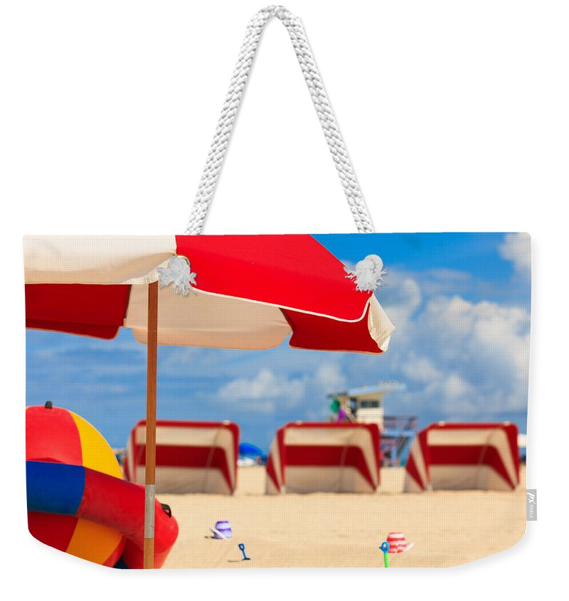 Florida Weekender Tote Bag featuring the photograph Miami Beach by Raul Rodriguez