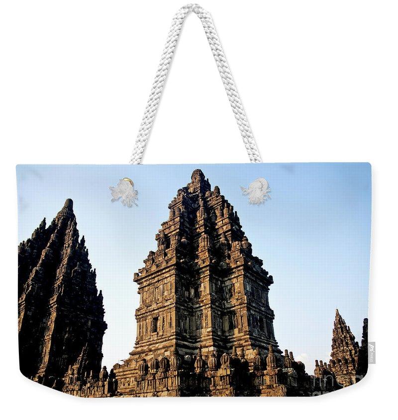 Prambanan Weekender Tote Bag featuring the photograph Prambanan Temple In Indonesia by Jacek Malipan