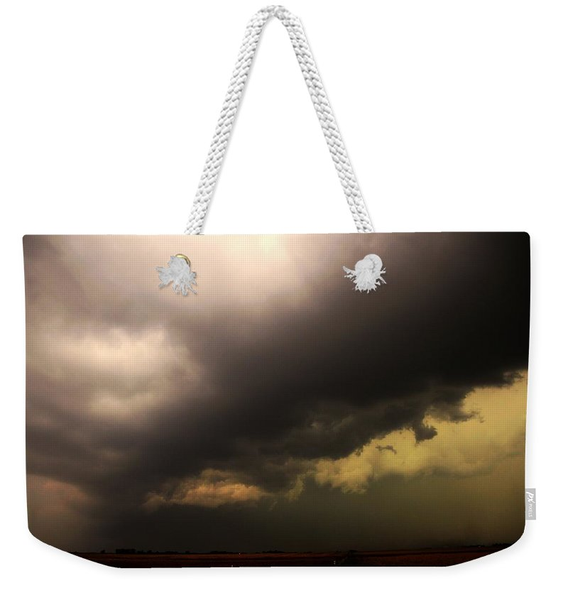 Stormscape Weekender Tote Bag featuring the photograph Severe Cells Over South Central Nebraska by NebraskaSC