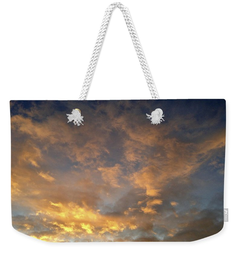 Sunlit Weekender Tote Bag featuring the photograph Sunset Sky by Les Cunliffe