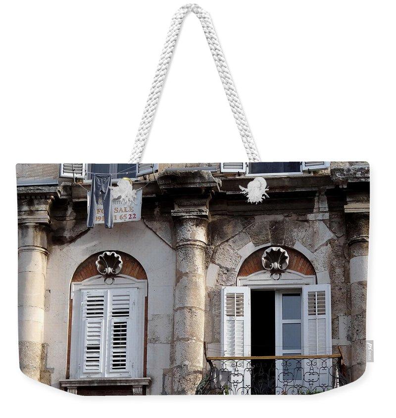 Mediterranean Weekender Tote Bag featuring the photograph Views Of Split Croatia by Richard Rosenshein