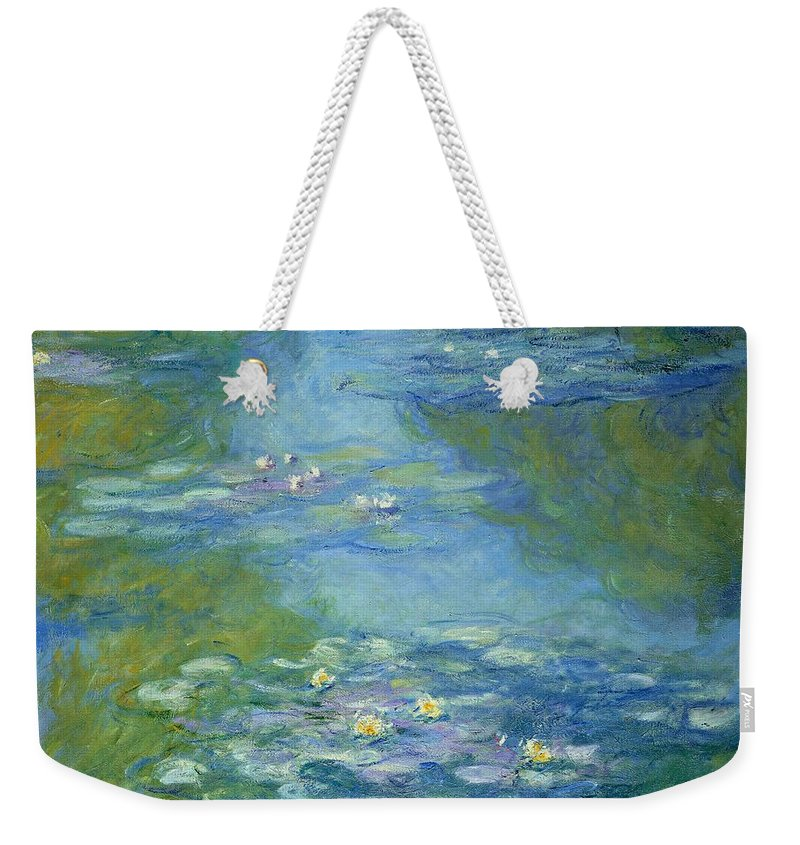 French Weekender Tote Bag featuring the painting Waterlilies 8 by Claude Monet