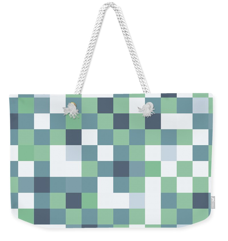 Abstract Weekender Tote Bag featuring the digital art Pixel Art by Mike Taylor