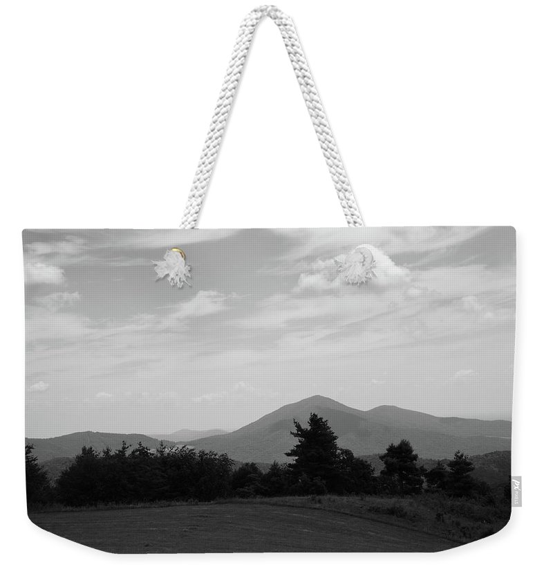 America Weekender Tote Bag featuring the photograph Blue Ridge Mountains - Virginia Bw 7 by Frank Romeo
