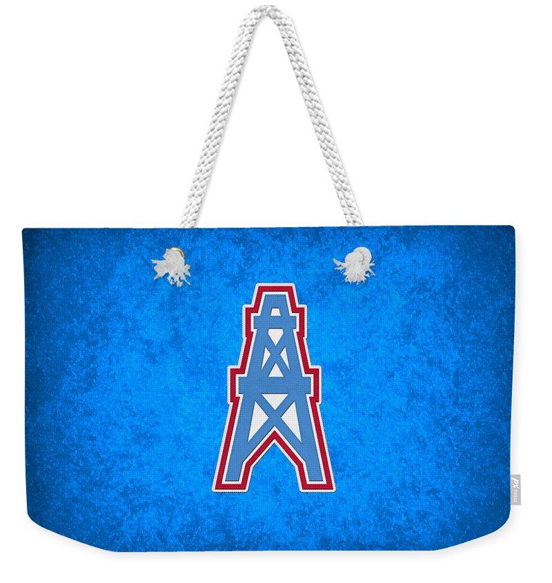Oilers Weekender Tote Bag featuring the photograph Houston Oilers by Joe Hamilton