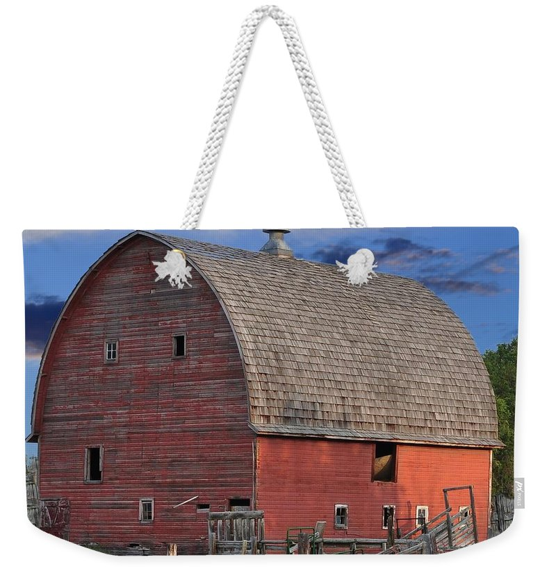 Barn Weekender Tote Bag featuring the photograph Idaho Falls by Image Takers Photography LLC
