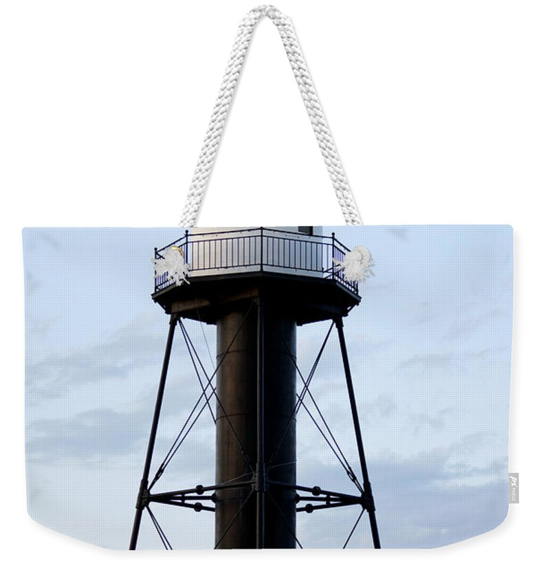 Lighthouses Weekender Tote Bag featuring the photograph Lighthouse by Lori Tordsen