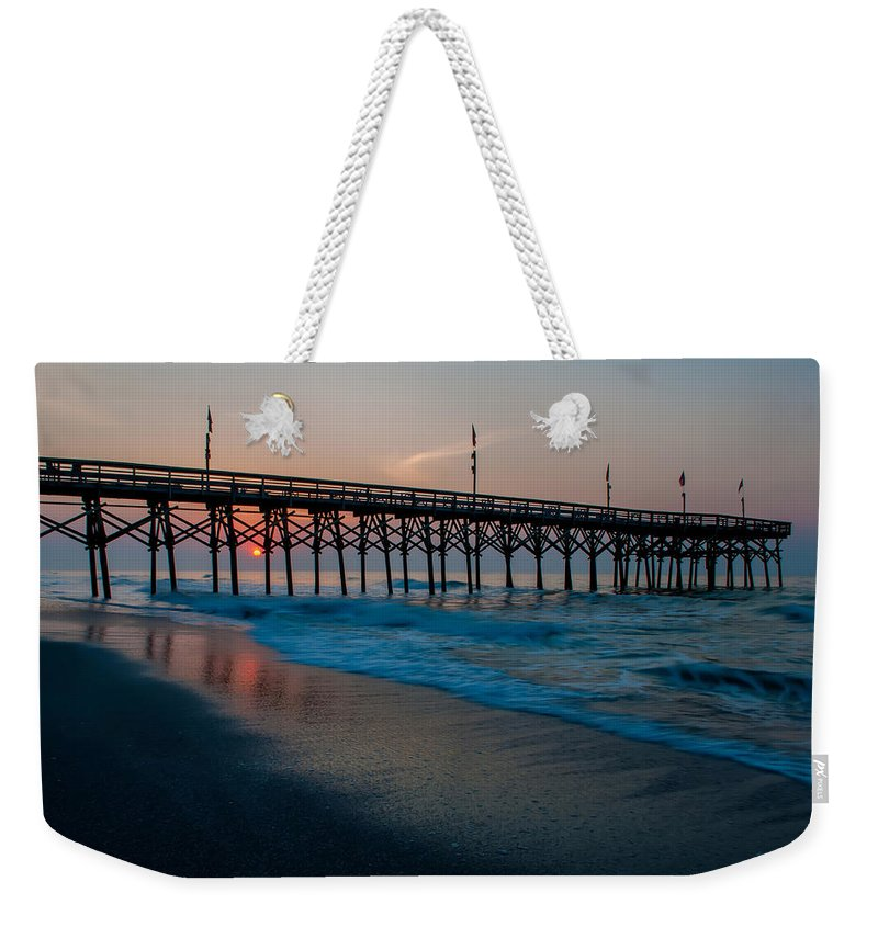 Beach Weekender Tote Bag featuring the photograph Myrtle Beach South Carolina by Alex Grichenko