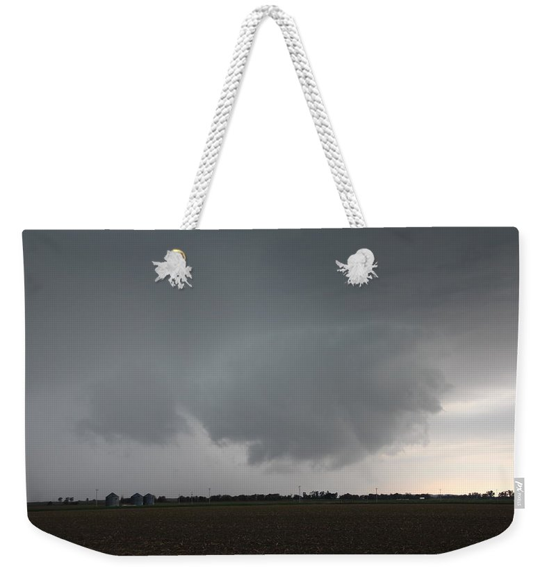 Stormscape Weekender Tote Bag featuring the photograph Strong Nebraska Supercells by NebraskaSC