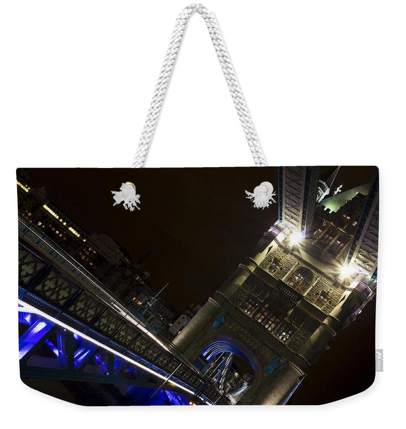 Tower Bridge Weekender Tote Bag featuring the photograph Tower Bridge by David Pyatt