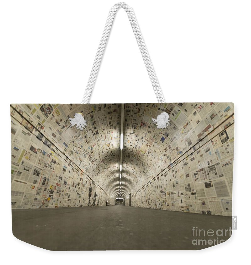 Tunnel Weekender Tote Bag featuring the photograph Tunnel by Mats Silvan