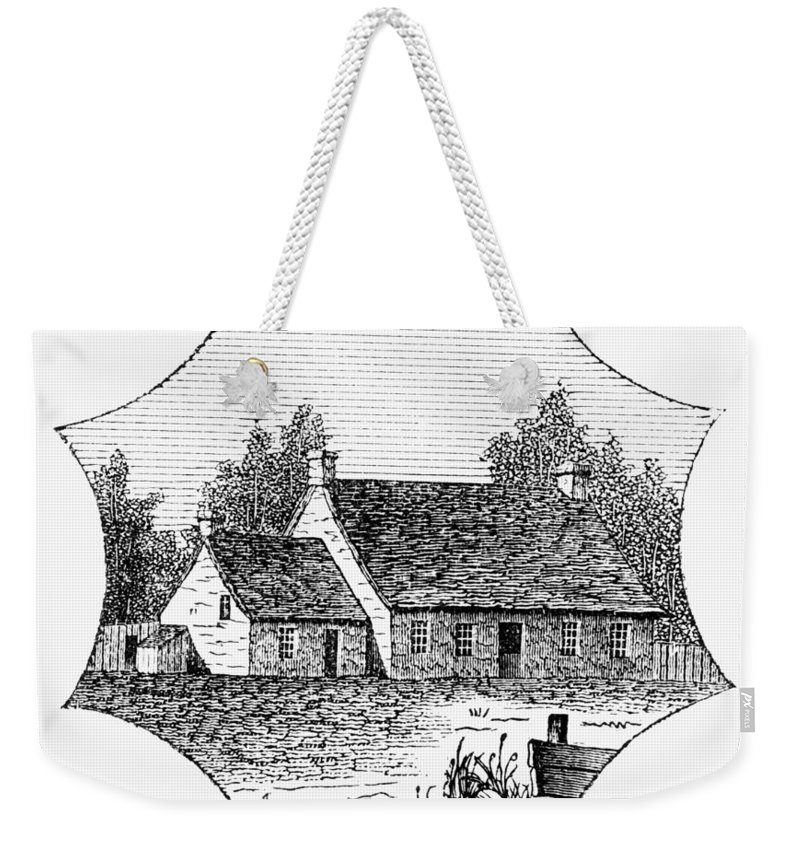 1780 Weekender Tote Bag featuring the photograph Washington: Headquarters by Granger