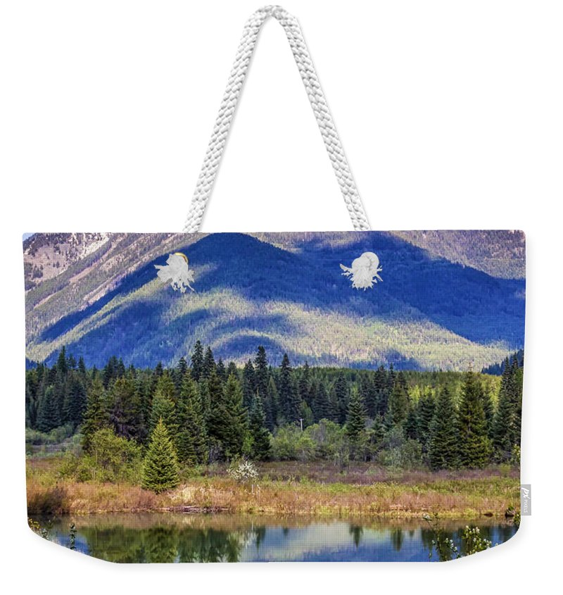 Scenic Weekender Tote Bag featuring the photograph 90524-23 In The Bull River Valley by Albert Seger