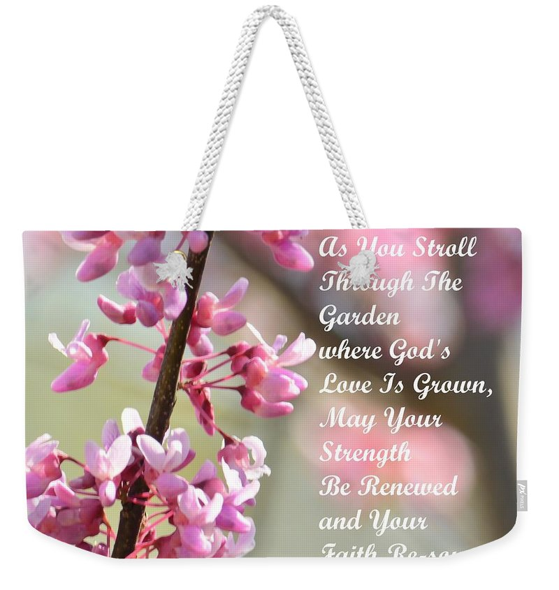A Blessing For You Weekender Tote Bag featuring the photograph A Blessing For You by Maria Urso