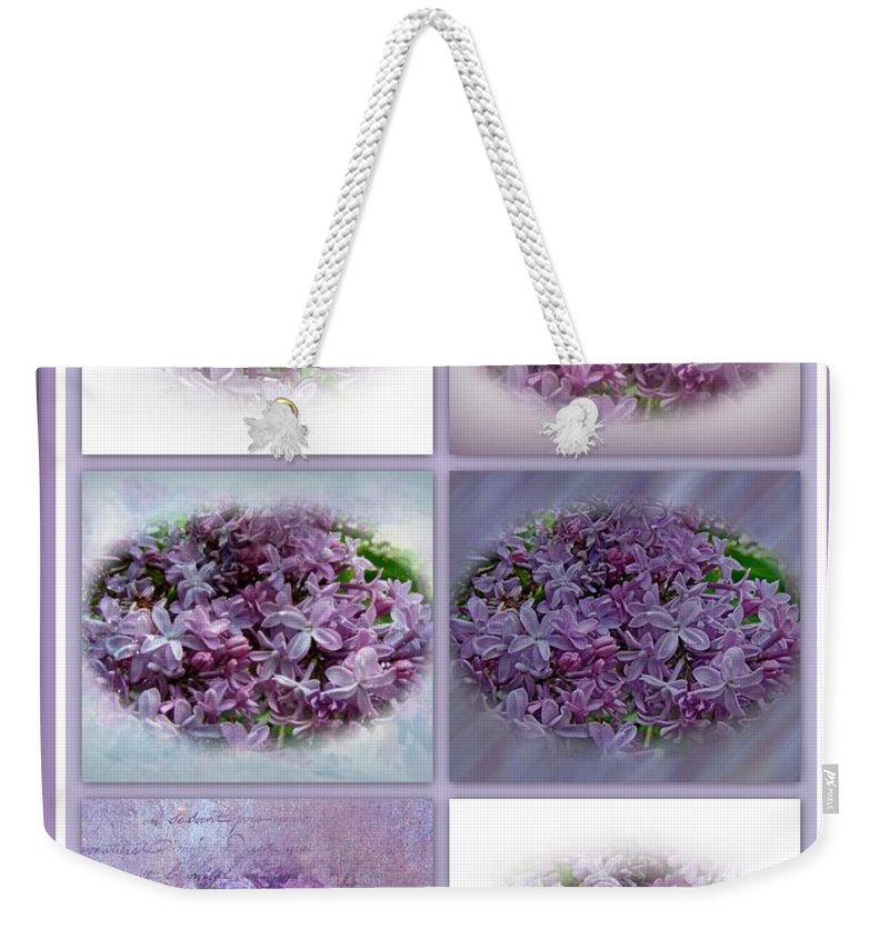 Lilac Weekender Tote Bag featuring the photograph A Bouquet Of Lilacs by Mother Nature