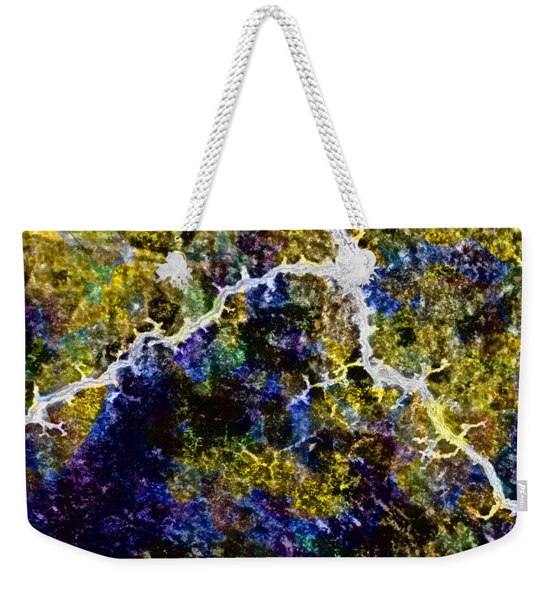 Earthquake Weekender Tote Bag featuring the digital art A Builder's Crack by Steve Taylor