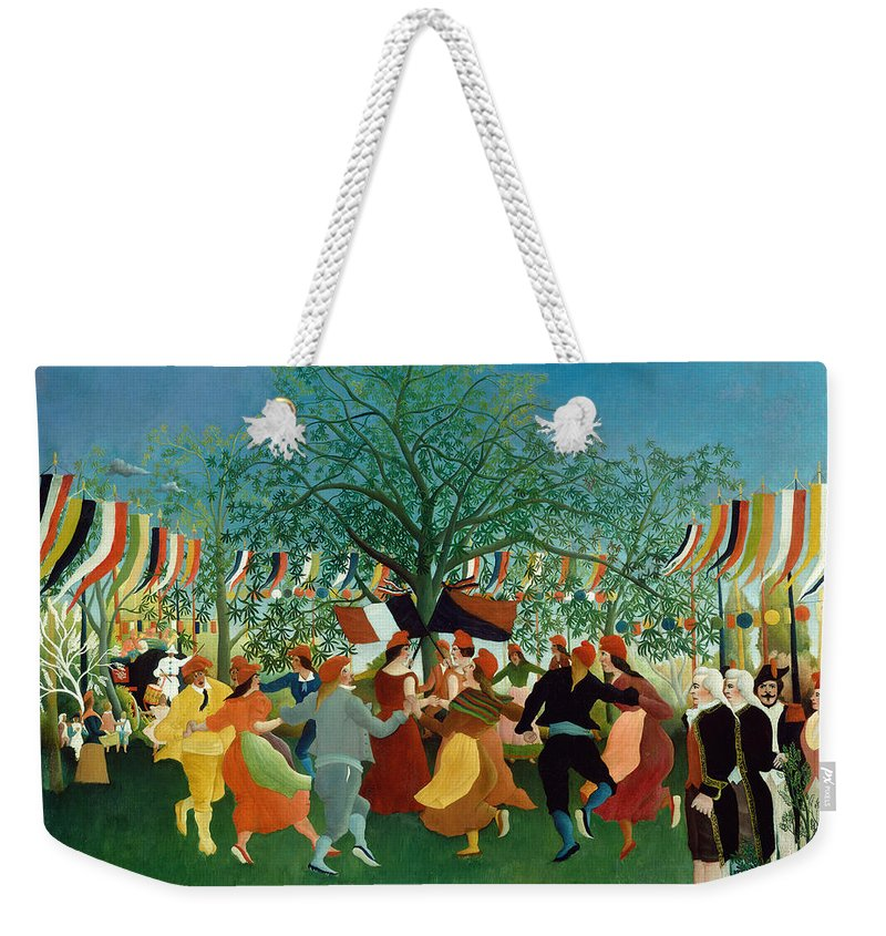 Henri Rousseau Weekender Tote Bag featuring the painting A Centennial Of Independence by Henri Rousseau