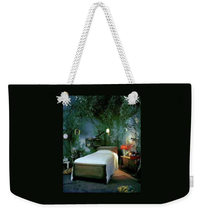 Bedroom Weekender Tote Bag featuring the photograph A Child's Bedroom Designed By William Riva by Otto Maya