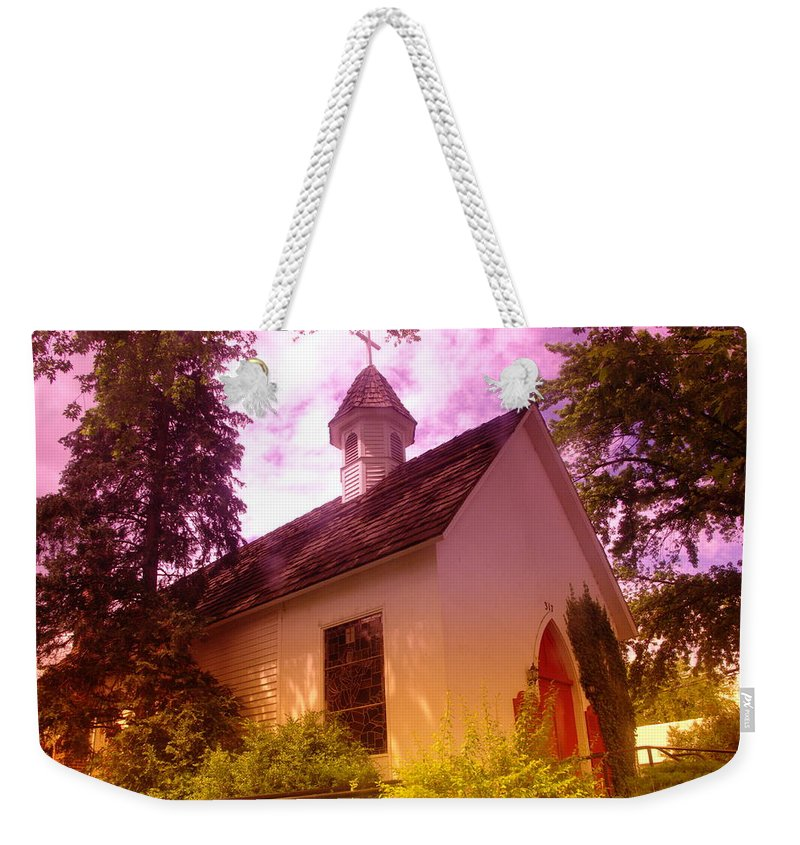 Churches Weekender Tote Bag featuring the photograph A Church In Prosser Wa by Jeff Swan
