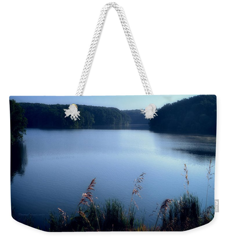 Cobalt Weekender Tote Bag featuring the photograph A Cobalt Morning by Thomas Woolworth
