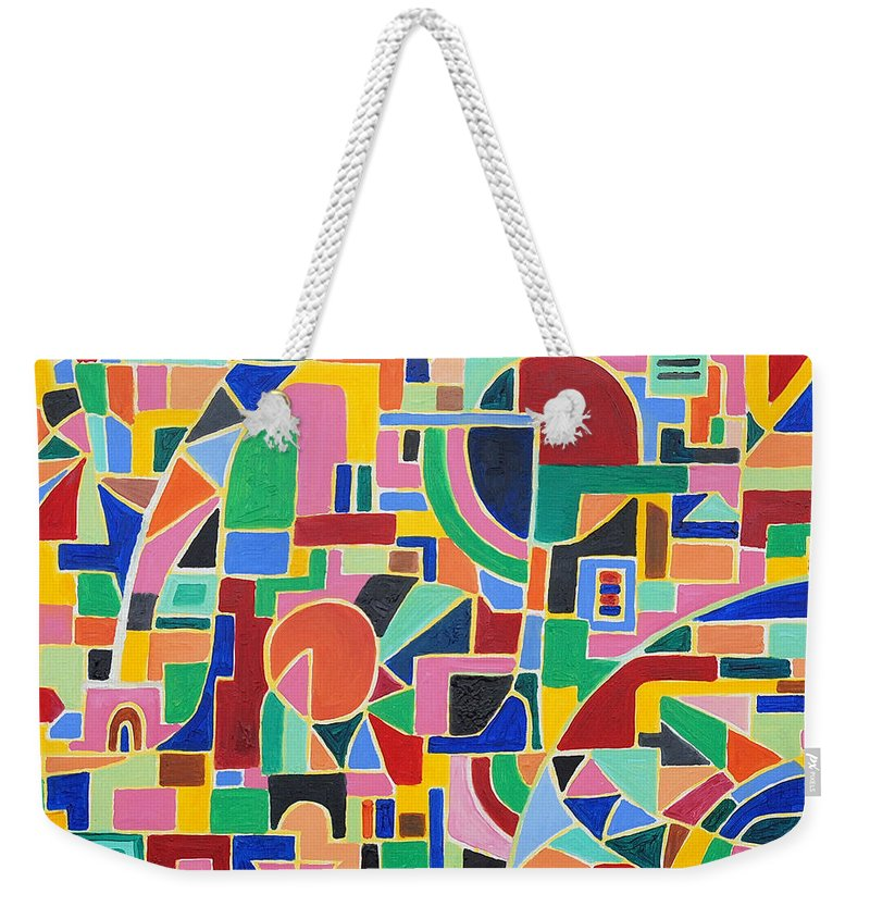 Casino Weekender Tote Bag featuring the painting A Casino In Las Vegas by Taikan Nishimoto
