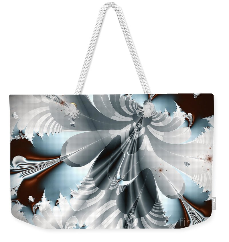 Digital Art Weekender Tote Bag featuring the digital art A Deeper Reflection Abstract Art Prints by Valerie Garner