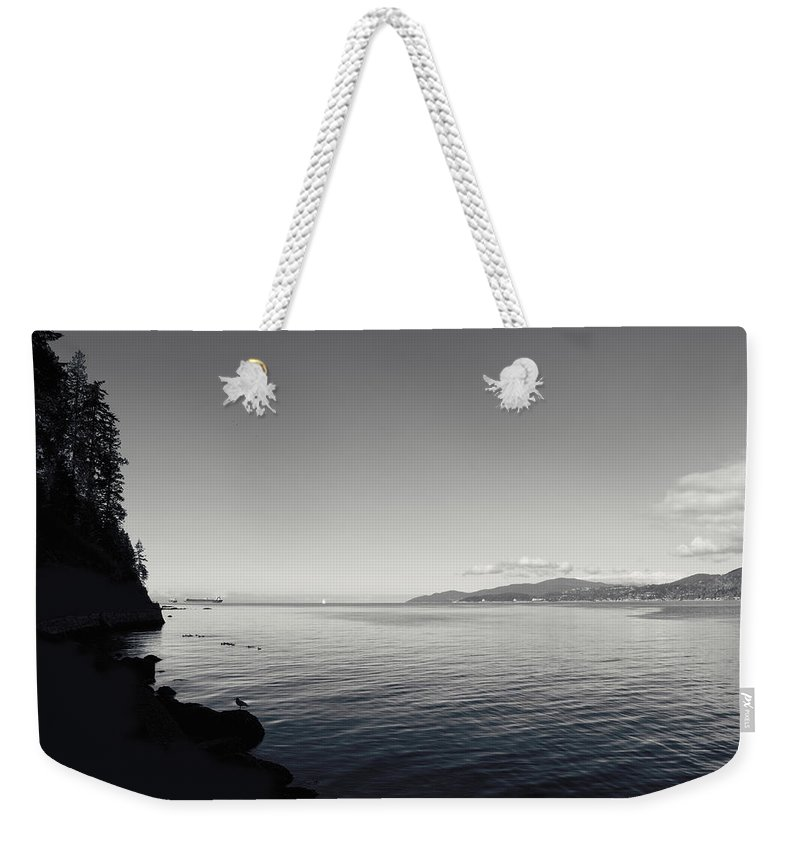 B&w Weekender Tote Bag featuring the photograph A Drop In The Ocean by Lisa Knechtel