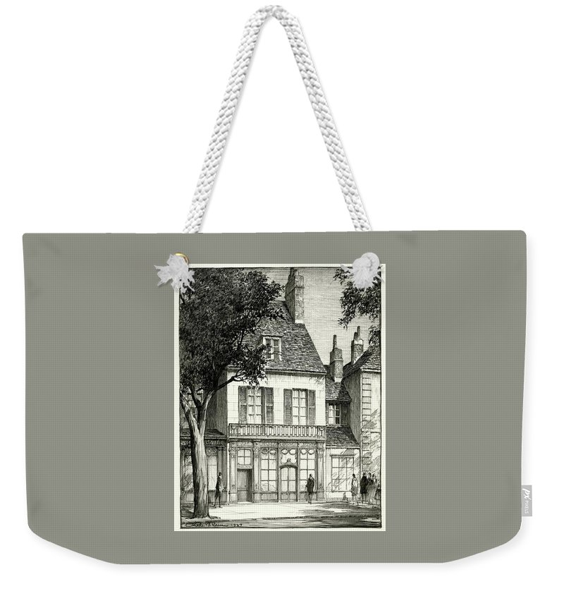 Architecture Weekender Tote Bag featuring the digital art A Facade Of A Store by Chester B. Price