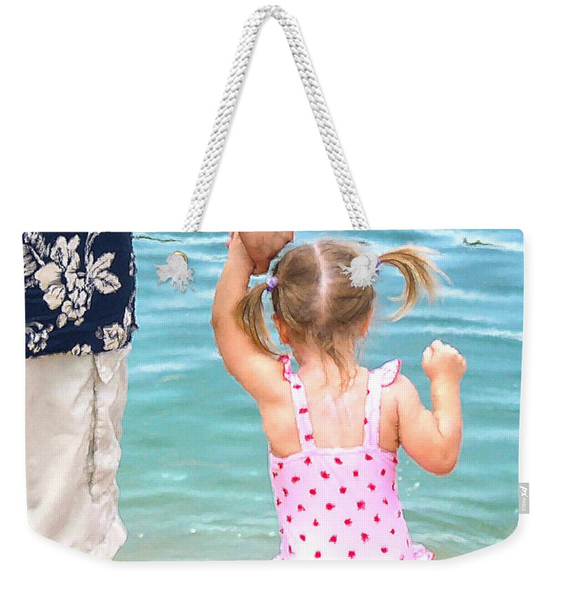 Water Weekender Tote Bag featuring the painting A Father's Love by Doug Kreuger
