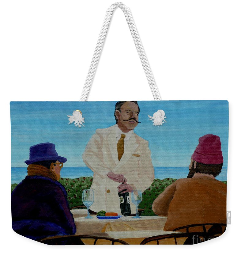 Wine Weekender Tote Bag featuring the painting A Fresh Bottle by Anthony Dunphy