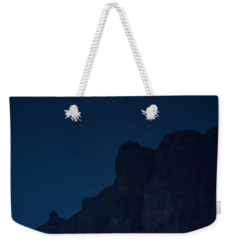 Full Moon Weekender Tote Bag featuring the photograph A Full Spring Moon by Saija Lehtonen